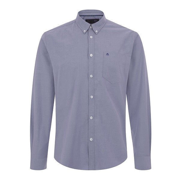 Merc Oval Oxford Shirt - Blue - Merc - ModWear