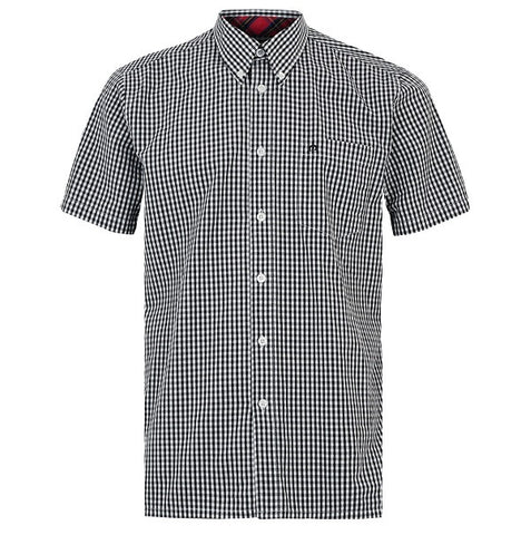 Merc Terry Gingham Shirt - Black
