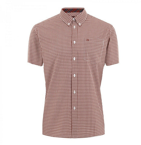 Merc Terry Gingham Shirt - Blood