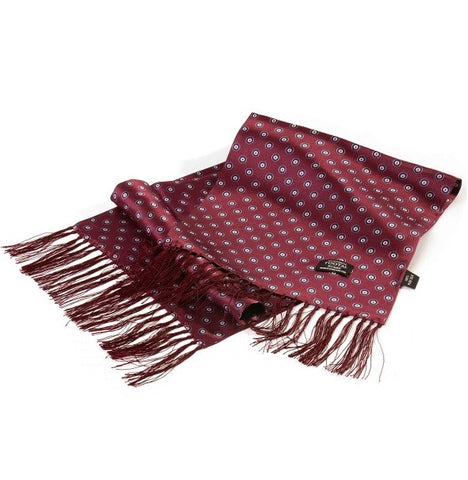 Tootal Target Silk Scarf - Wine