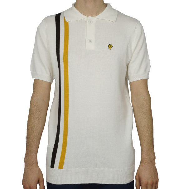 Wigan Casino Knitted Polo - Ecru - Wigan Casino - ModWear