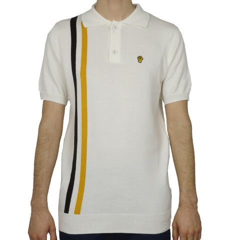Wigan Casino Knitted Polo - Ecru