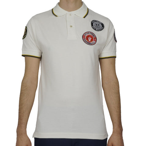 Wigan Casino Badged Polo - Ecru