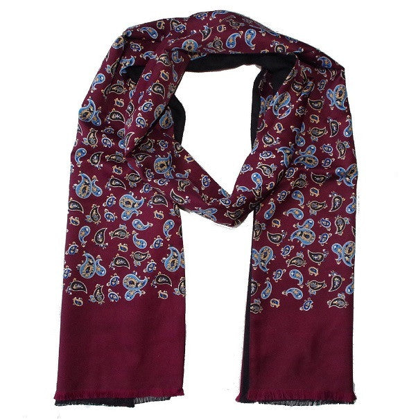 Warrior Paisley Scarf - Burgundy - Warrior - Mod Wear - 1