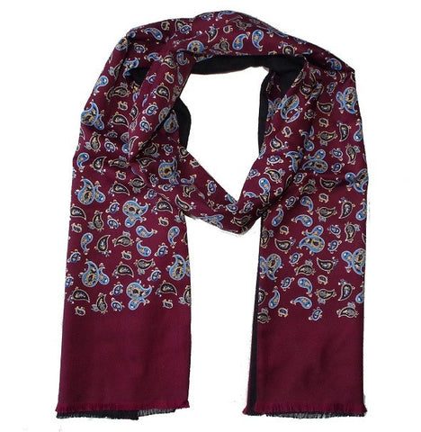 Warrior Paisley Scarf - Burgundy