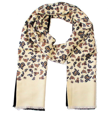 Warrior Paisley Scarf - Cream