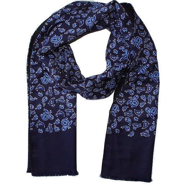 Warrior Paisley Scarf - Navy - Warrior - Mod Wear - 1