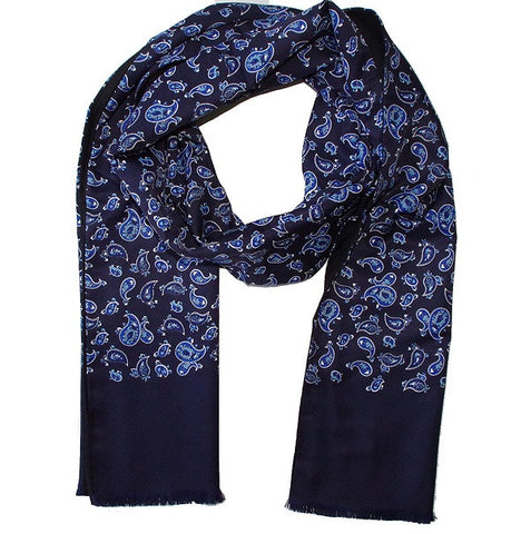 Warrior Paisley Scarf - Navy