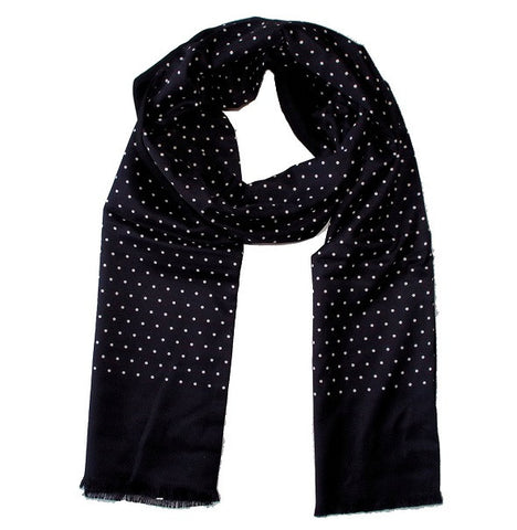 Warrior Polkadot Scarf - Black