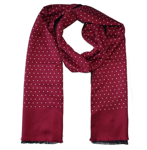 Warrior Polkadot Scarf - Burgundy