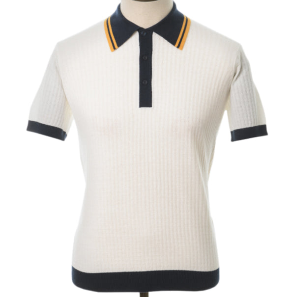 AGC Freeman Knitted Polo - Off White - Art Gallery Clothing - ModWear