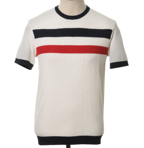 AGC Goldhawk Knitted Tee - Off White - Art Gallery Clothing - ModWear