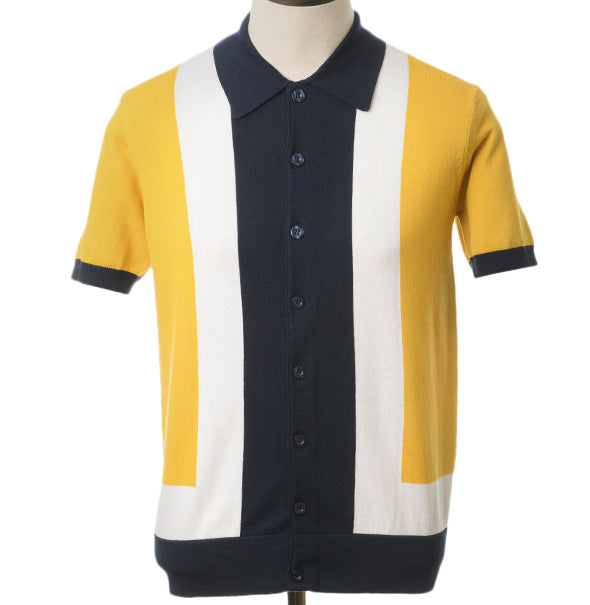 AGC Marley Knitted Polo - Mustard - Art Gallery Clothing - ModWear