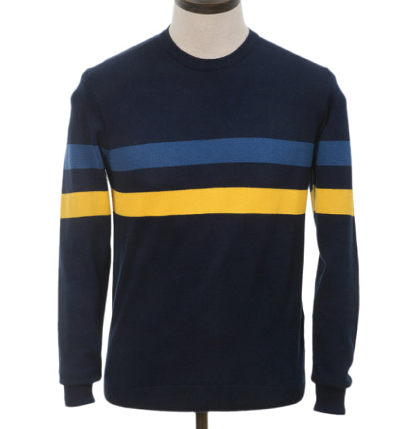 AGC Scene Knitted Jumper - Navy - Art Gallery Clothing - ModWear