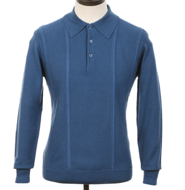 AGC Val Knitted Polo - Mid Blue