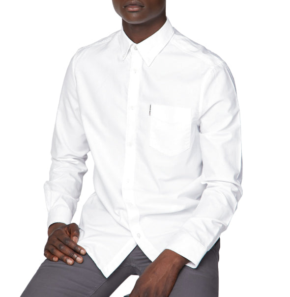 Ben Sherman Oxford Shirt - White - Ben Sherman - ModWear