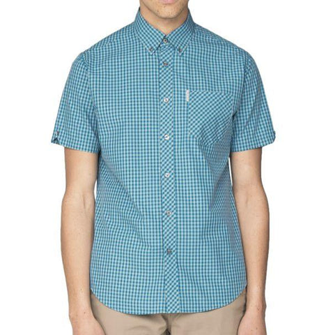 Ben Sherman Gingham Shirt - Sea