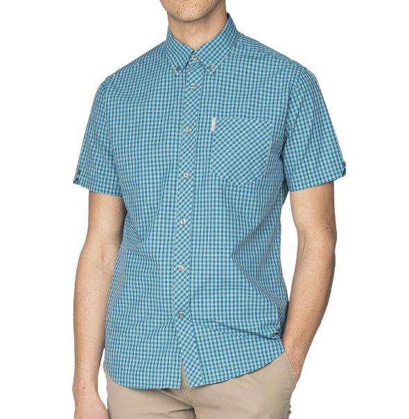Ben Sherman Gingham Shirt - Sea - Ben Sherman - ModWear