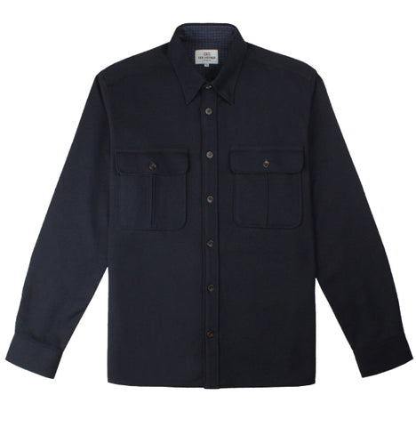 Ben Sherman Wool Utility Shirt - Navy