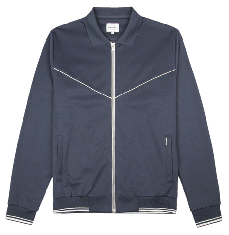 Ben Sherman Tricot Track Top  - Navy