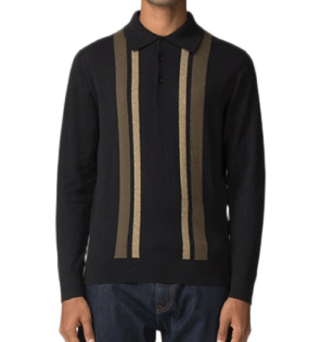 Ben Sherman Knitted Polo - Black