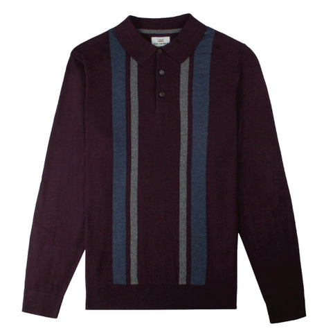 Ben Sherman Knitted Polo - Wine