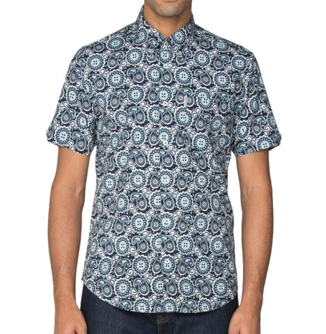 Ben Sherman Paisley Shirt - Navy