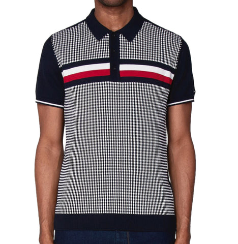 27073099b Ben Sherman Knitted Polo - Navy