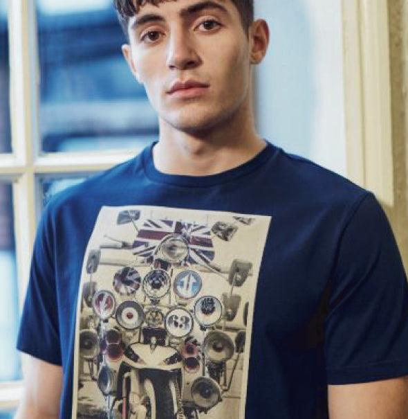 Ben Sherman Headlamp Tee - Navy - Ben Sherman - ModWear
