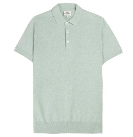 Ben Sherman Knitted Polo - Sea Green