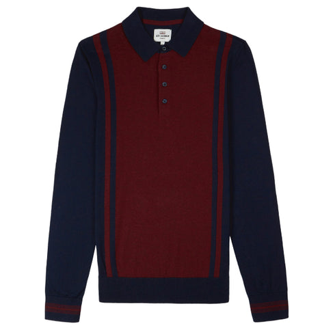 Ben Sherman Knitted Mod Polo - Navy