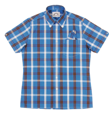 Brutus Trimfit Palace Check  - Blue/Cocoa