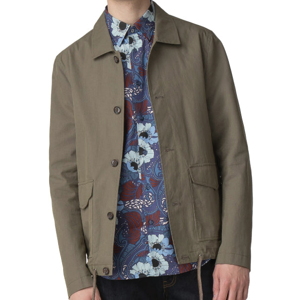 Ben Sherman Military Jacket - Olive - Ben Sherman - ModWear