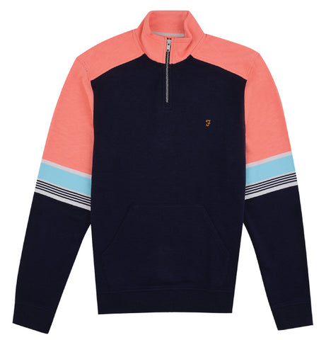 Farah Vintage West Zip Top - Yale