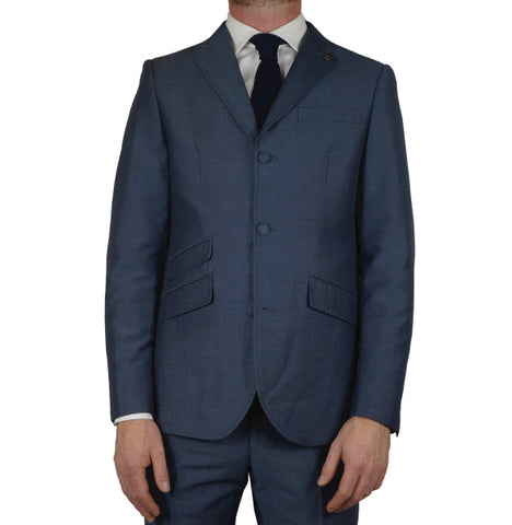 Gabicci Vintage Suit Jacket - Blue Tonic