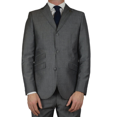 Gabicci Vintage Suit Jacket - Grey Tonic