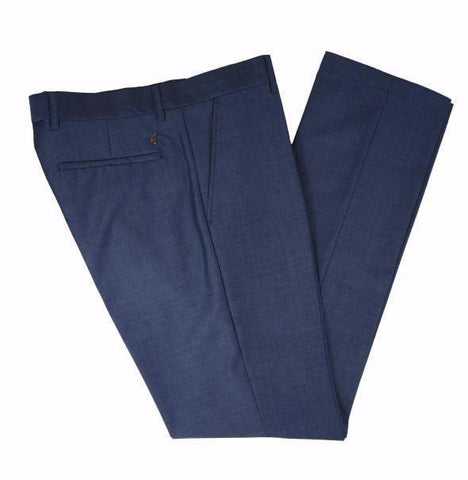 Gabicci Vintage Suit Trouser - Blue Tonic