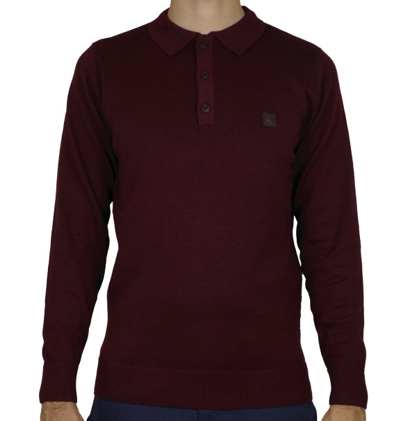 Gabicci Vintage Knitted Polo - Port