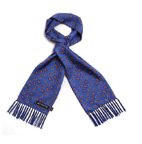 Knightsbridge Silk Scarf - Blue/Red