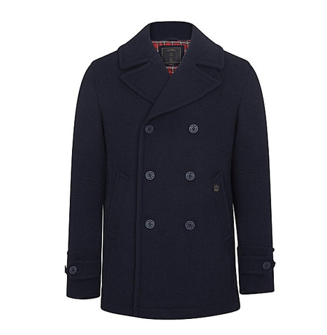Merc Doyle Pea Coat - Dark Navy