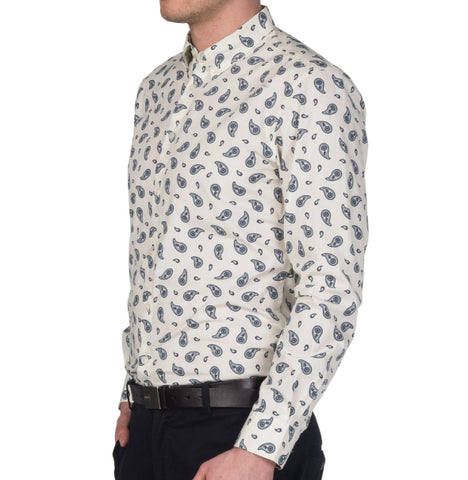 Merc Endell Paisley Shirt - Off White