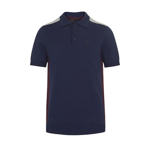 Merc Hendale Knitted Polo - Navy
