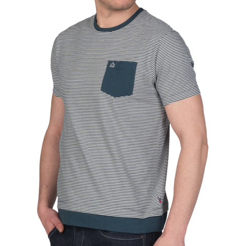 Merc Holland Stripe T-Shirt - Teal
