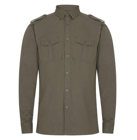 Merc Officer Shirt - Khaki