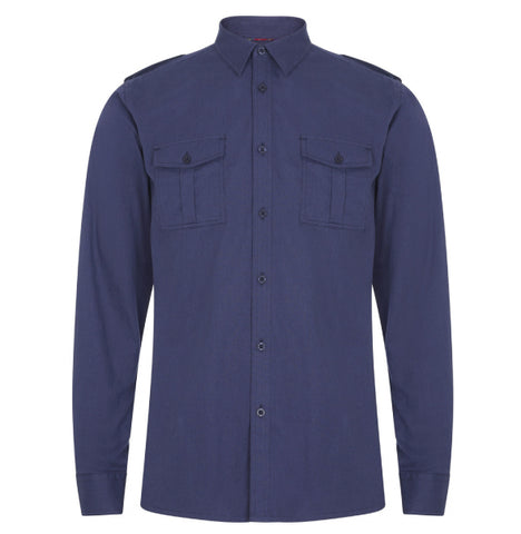 Merc Officer Shirt - Navy