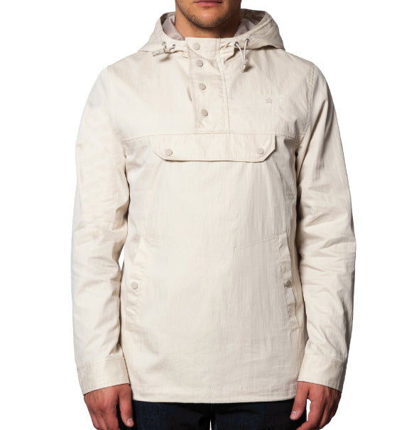 Merc Shield Hooded Jacket - Stone - Merc - ModWear