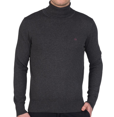 Merc Wapping Roll Neck - Charcoal