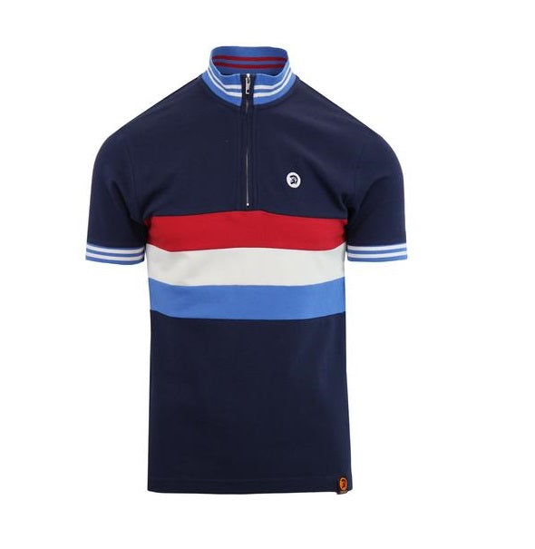 Trojan Cycling Shirt - Navy - Trojan Records - ModWear