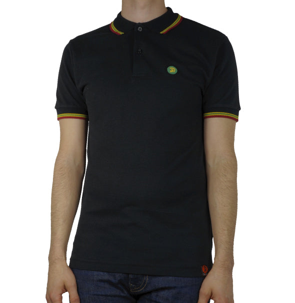 Trojan Tipped Polo Shirt - Rasta - Trojan Records - ModWear