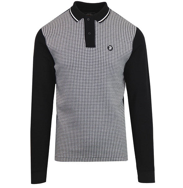 Trojan Houndstooth Polo - Black - Trojan Records - ModWear